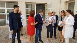 La Consellera de Sanitat Ana Barceló visita l'Hospital de Vinaròs